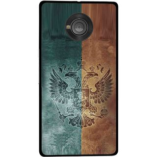 Snooky Printed Eagle Mobile Back Cover For Micromax Yu Yuphoria - Multicolour