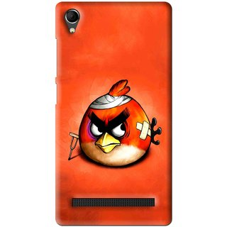 Snooky Printed Wouded Bird Mobile Back Cover For Intex Aqua Power Plus - Multi