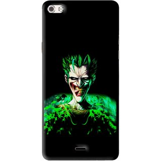 Snooky Printed Daring Joker Mobile Back Cover For Micromax Canvas Sliver 5 Q450 - Multi