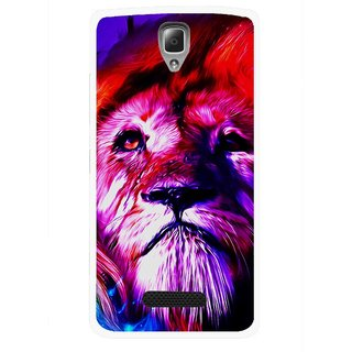 Snooky Printed Freaky Lion Mobile Back Cover For Lenovo A2010 - Multicolour