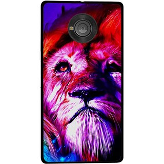 Snooky Printed Freaky Lion Mobile Back Cover For Micromax Yu Yuphoria - Multicolour