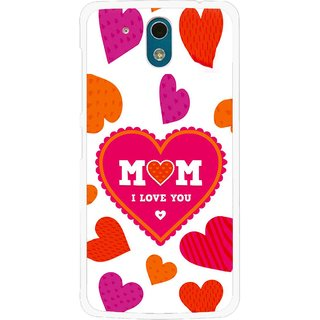Snooky Printed Mom Mobile Back Cover For HTC Desire 326G - White