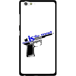 Snooky Printed Be Educated Mobile Back Cover For Gionee Elife S6 - Multi