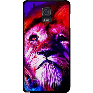 Snooky Printed Freaky Lion Mobile Back Cover For Samsung Galaxy Note 4 - Multicolour