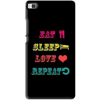 Snooky Printed LifeStyle Mobile Back Cover For Huawei Ascend P8 - Multi