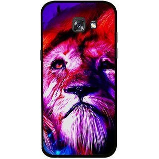 Snooky Printed Freaky Lion Mobile Back Cover For Samsung Galaxy A7 (2017) - Multicolour