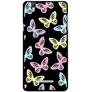 Snooky Printed Butterfly Mobile Back Cover For Micromax YU YUREKA - Multi