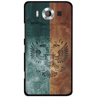 Snooky Printed Eagle Mobile Back Cover For Microsoft Lumia 950 - Multicolour