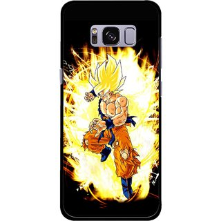 Snooky Printed Angry Man Mobile Back Cover For Samsung Galaxy S8 Plus - Multicolour