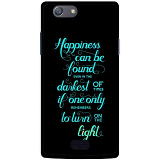 Snooky Printed Everywhere Happiness Mobile Back Cover For Oppo Neo 5 - Multicolour