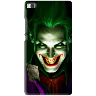 Snooky Printed Loughing Joker Mobile Back Cover For Huawei Ascend P8 - Multi