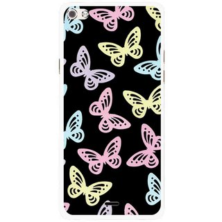 Snooky Printed Butterfly Mobile Back Cover For Micromax Canvas Sliver 5 Q450 - Multi