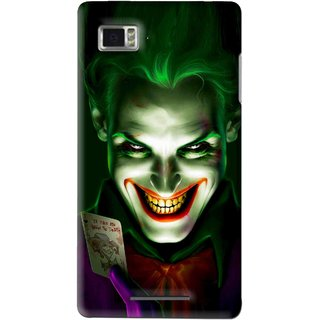 Snooky Printed Loughing Joker Mobile Back Cover For Lenovo K910 - Multi