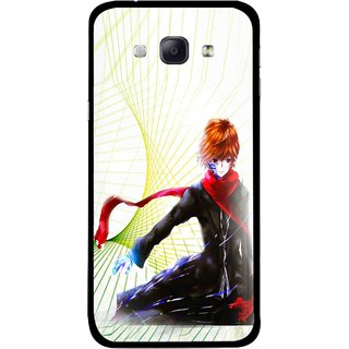 Snooky Printed Stylo Boy Mobile Back Cover For Samsung Galaxy A8 - Multicolour