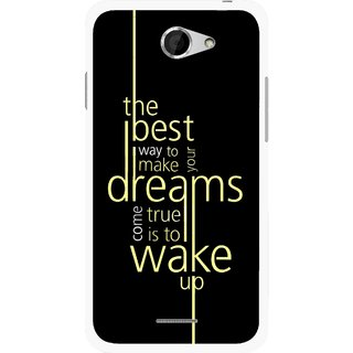 Snooky Printed Wake up for Dream Mobile Back Cover For HTC Desire 516 - Multicolour