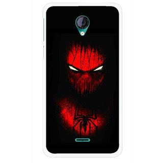 Snooky Printed Spider Eye Mobile Back Cover For Micromax Canvas Unite 2 - Multicolour