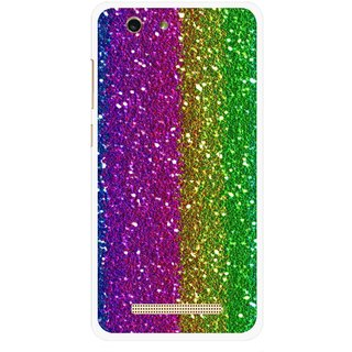 Snooky Printed Sparkle Mobile Back Cover For Gionee F103 pro - Multi