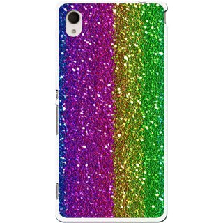 Snooky Printed Sparkle Mobile Back Cover For Sony Xperia M4 - Multi