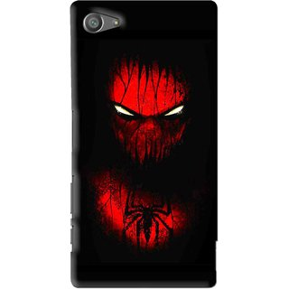 Snooky Printed Spider Eye Mobile Back Cover For Sony Xperia Z5 Compact - Multi