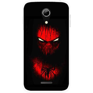 Snooky Printed Spider Eye Mobile Back Cover For Micromax A114 - Multicolour