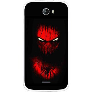 Snooky Printed Spider Eye Mobile Back Cover For Micromax Bolt A068 - Multicolour