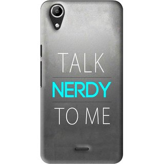 Snooky Printed Talk Nerdy Mobile Back Cover For Micromax Bolt Q338 - Multi