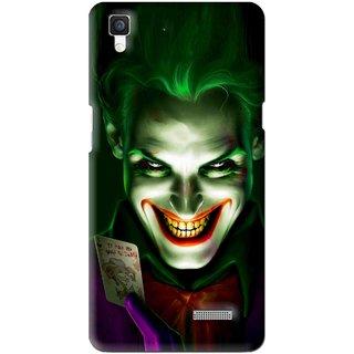 Snooky Printed Loughing Joker Mobile Back Cover For Oppo R7 - Multi