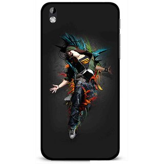 Snooky Printed Music Mania Mobile Back Cover For HTC Desire 816 - Multi