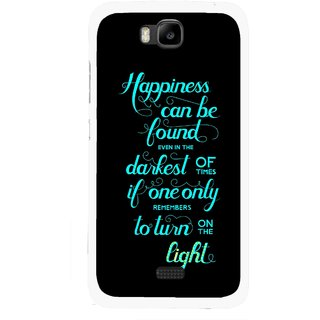Snooky Printed Everywhere Happiness Mobile Back Cover For Huawei Honor Bee - Multicolour