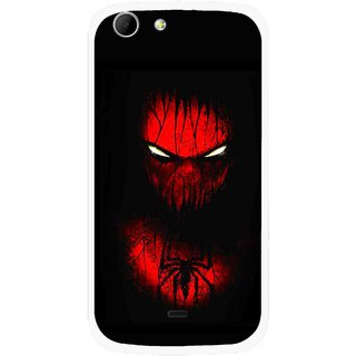 Snooky Printed Spider Eye Mobile Back Cover For Micromax Canvas 4 A210 - Multicolour