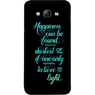 Snooky Printed Everywhere Happiness Mobile Back Cover For Samsung Galaxy A8 - Multicolour