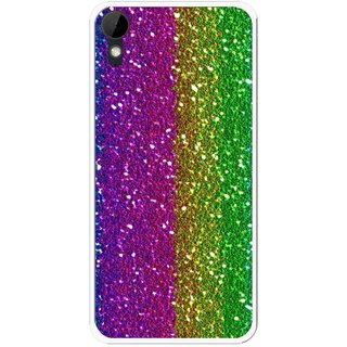 Snooky Printed Sparkle Mobile Back Cover For HTC Desire 825 - Multi