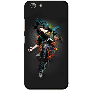 Snooky Printed Music Mania Mobile Back Cover For Vivo Y53 - Multi