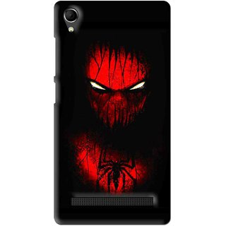 Snooky Printed Spider Eye Mobile Back Cover For Intex Aqua Power Plus - Multi