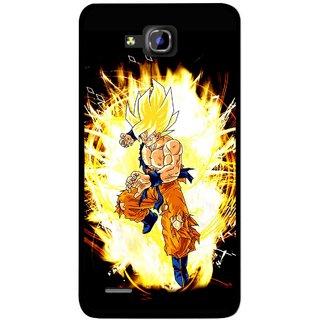 Snooky Printed Angry Man Mobile Back Cover For Huawei Honor 3C - Multicolour