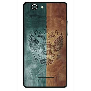Snooky Printed Eagle Mobile Back Cover For Xolo A500s - Multi