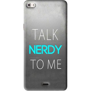 Snooky Printed Talk Nerdy Mobile Back Cover For Micromax Canvas Sliver 5 Q450 - Multi