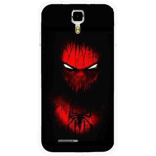 Snooky Printed Spider Eye Mobile Back Cover For Micromax Canvas Juice A177 - Multicolour