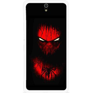 Snooky Printed Spider Eye Mobile Back Cover For Sony Xperia C5 - Multicolour