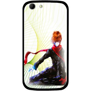 Snooky Printed Stylo Boy Mobile Back Cover For Micromax Canvas 4 A210 - Multicolour