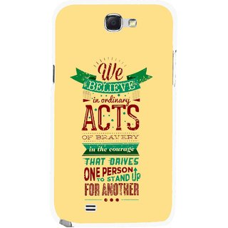 Snooky Printed Bravery Mobile Back Cover For Samsung Galaxy Note 2 - Multicolour