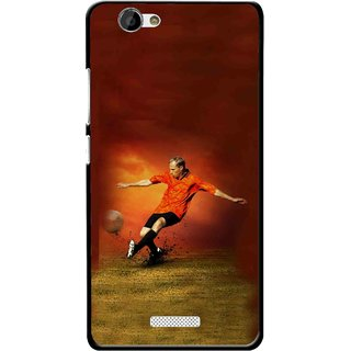 Snooky Printed Football Mania Mobile Back Cover For Gionee M2 - Multi