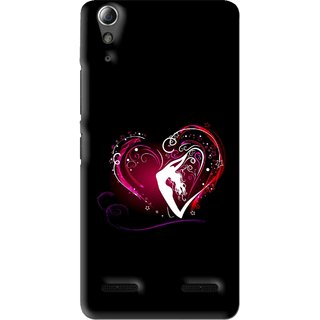 Snooky Printed Lady Heart Mobile Back Cover For Lenovo A6000 Plus - Multi