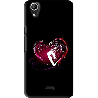 Snooky Printed Lady Heart Mobile Back Cover For Micromax Bolt Q338 - Multi