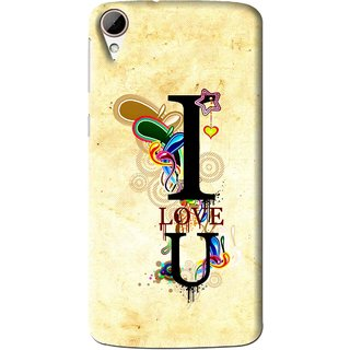 Snooky Printed Love You Mobile Back Cover For HTC Desire 828 - Multi