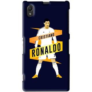 Snooky Printed Ronaldo Mobile Back Cover For Sony Xperia Z1 - Multi