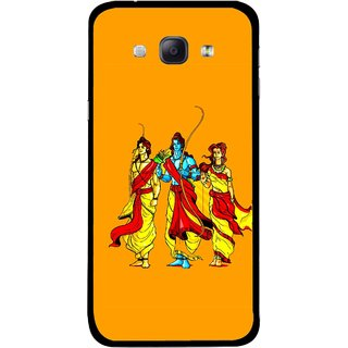 Snooky Printed God Rama Mobile Back Cover For Samsung Galaxy A8 - Multicolour