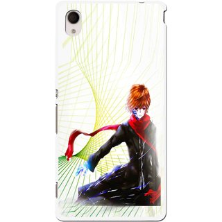 Snooky Printed Stylo Boy Mobile Back Cover For Sony Xperia M4 - Multi