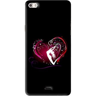 Snooky Printed Lady Heart Mobile Back Cover For Micromax Canvas Sliver 5 Q450 - Multi