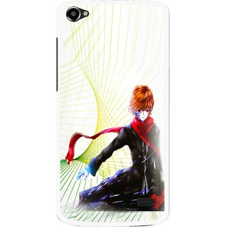 Snooky Printed Stylo Boy Mobile Back Cover For Intex Aqua Star 2 HD - Multi
